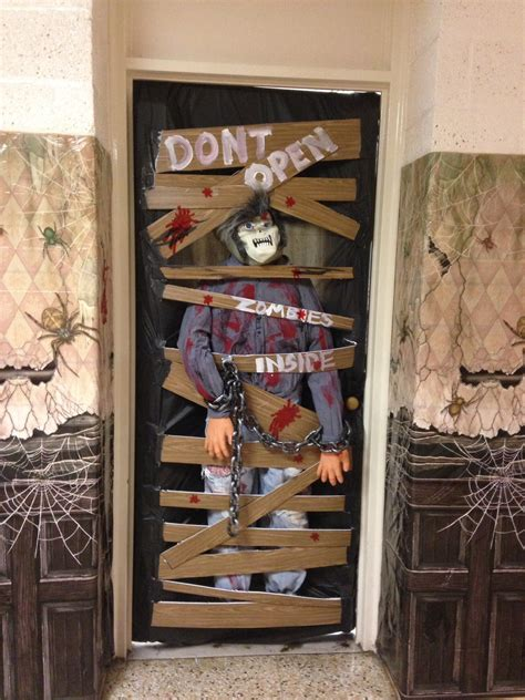 Classroom Door Decorating Contest Pictures by Classroom Door Decorating Contest Zombies