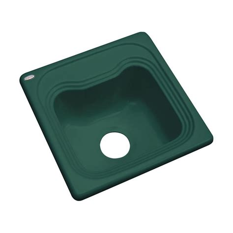 mustee 15 in x 15 in fiberglass self rimming bar sink in