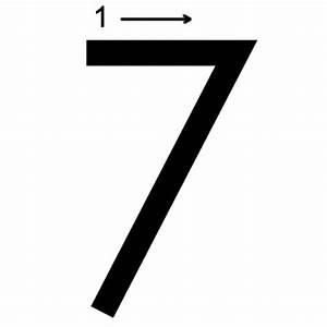 Number 7 Printing Worksheet