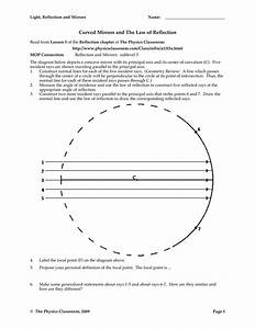 Images In Curved Mirrors Worksheet
