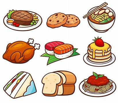 Cartoon Illustration Vector Chicken Vocabulary Different Roast