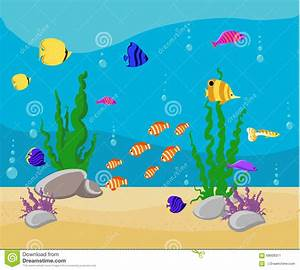 Fish Tank clipart underwater world - Pencil and in color ...