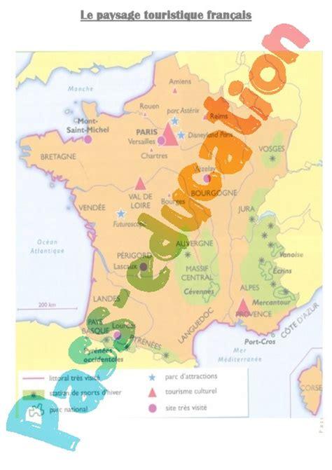 Carte Montagne Cycle 3 by Carte Du Paysage Touristique Fran 231 Ais Cm1 Cm2 Pass