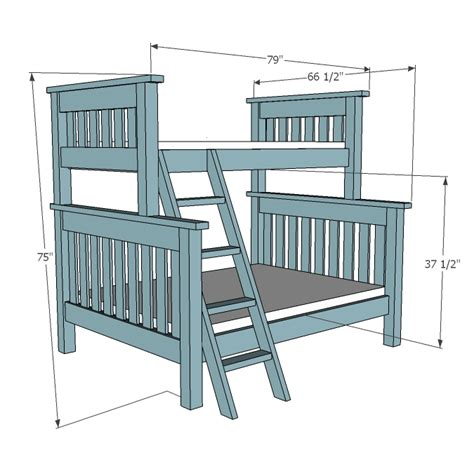 bunk bed building plans easy diy woodworking projects step  step   build wood work