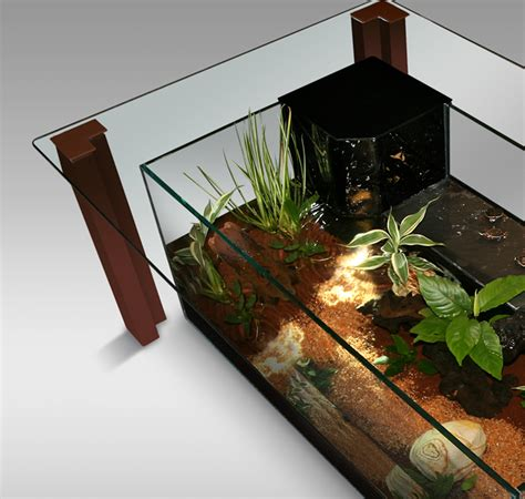 table basse avec aquarium int 233 gr 233 table de lit