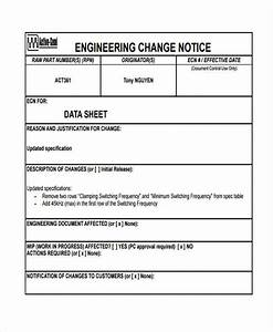 change form template With engineering change order template