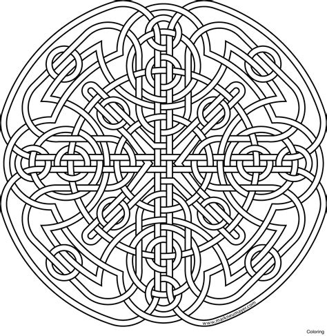 Celtic Mandalas Coloring Pages To Print Free Coloring Sheets