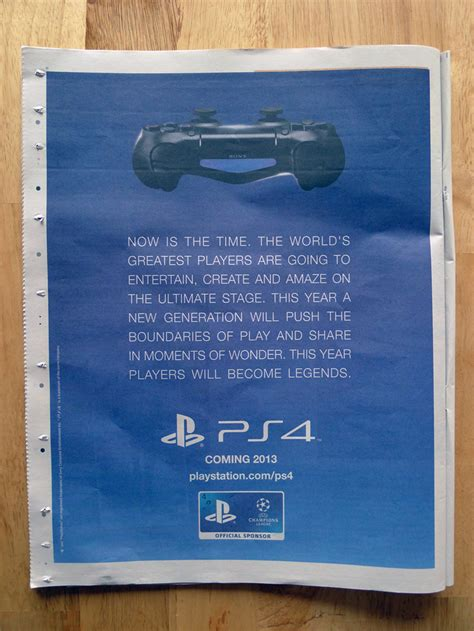 sony newspaper ad confirms ps launch uk