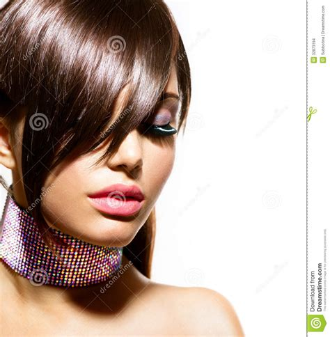 fashion beauty girl image of hair glamor