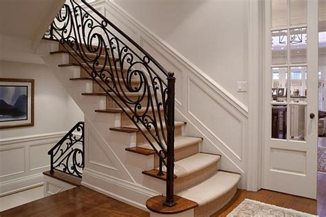 wrought iron banister choosing the stair railing design style
