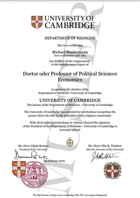 degree certificate directory degree honorary