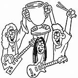 Coloring Pages Rock Star Band Printable Getcolorings Print Coloring2print sketch template