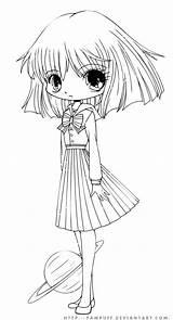 Chibi Coloring Pages Anime Manga Yampuff Deviantart Colouring Sheets Lineart Coloriage Printable Sailor Hotaru Moon Books Kawaii Pictre Adult Digital sketch template