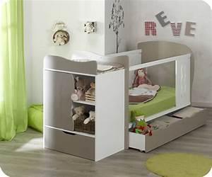 lit bebe evolutif jooly lin et blanc With chambre bébé design avec fleur pastillage pas cher