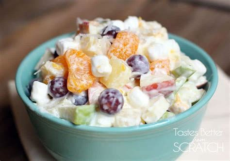 creamy fruit salad recipe tastes   scratch