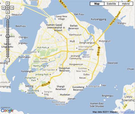 xiamen map hotels identifiable   map xiamen city