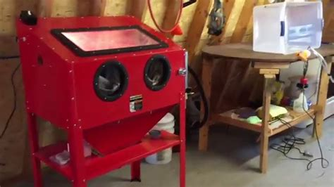 harbor freight sand blasting cabinet mods harbor freight stand up sand blast cabinet review mods