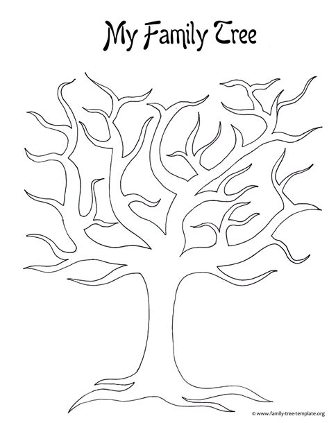 Tree Template Best Photos Of Large Tree Template Large Blank Family