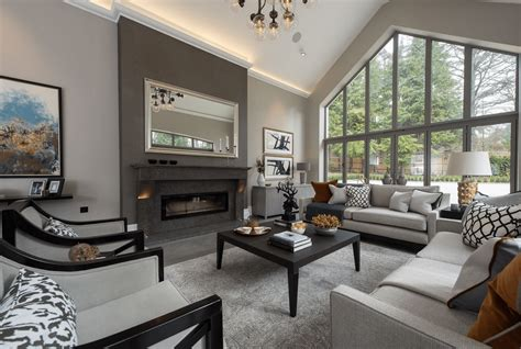 If you want to create a dramatic scheme that's cozy at night, a deep, contemporary grey like the one in this room is a bold but rewarding move. Beautiful Gray Living Room Ideas