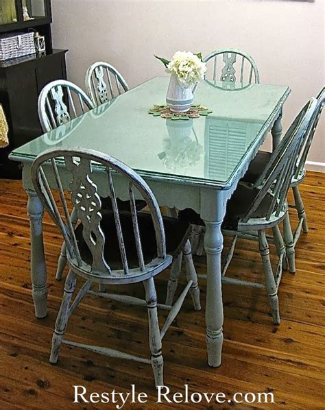 green kitchen table farmhouse style vintage green dining table chairs 1443