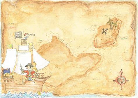 treasure map invitation templates