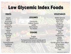 Rice Glycemic Index Chart Low Glycemic Food Chart List Printable Of Types Of Food