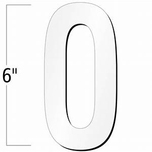 6 inch die cut magnetic number 0 white sku nl mg 6 wt 0 With 6 inch magnetic letters