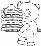 Pancakes Pig Pancake Clip Clipart Coloring Pages Activities Pajama Ihop Pajamas Preschool Birthday Give Outline Breakfast Camping Pj Worksheets Holding sketch template