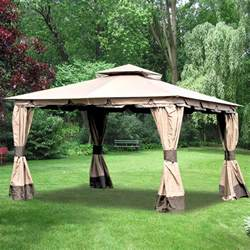 Hampton Bay Patio Umbrella Replacement Canopy by Wilson Amp Fisher 10 X 12 Monterey Gazebo Replacement Canopy