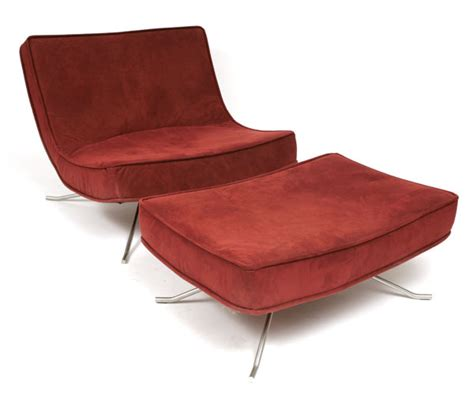 Ligne Roset Chair Ottoman Red Modern Furniture Pictures