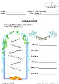 year  history printable resources  worksheets