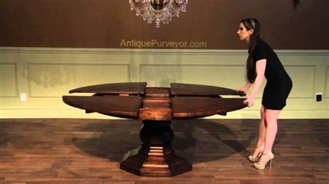 rustic  dining table   expandable jupe table