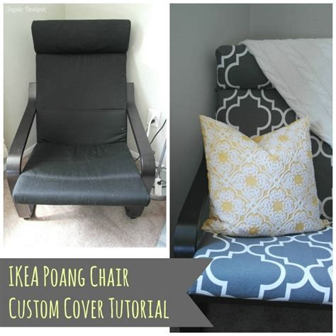 DIY IKEA Poang Chair Cover   Polished Habitat