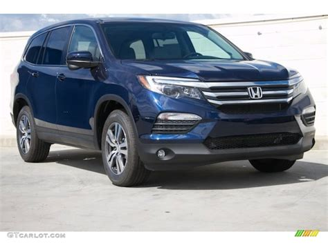Primarily aimed at the north american market. 2016 Obsidian Blue Pearl Honda Pilot EX #109040610 Photo ...