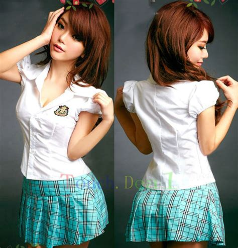 Hot Clubwear Adult Lolita Costume Naughty School Girl Dress Cosplay Uniform A EBay