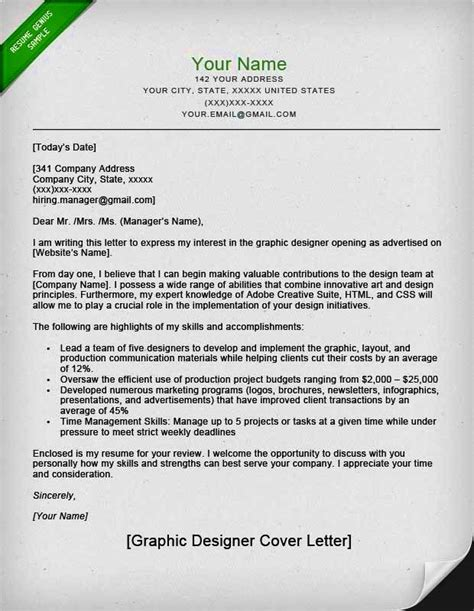 cover letter graphic design resume template cover letter