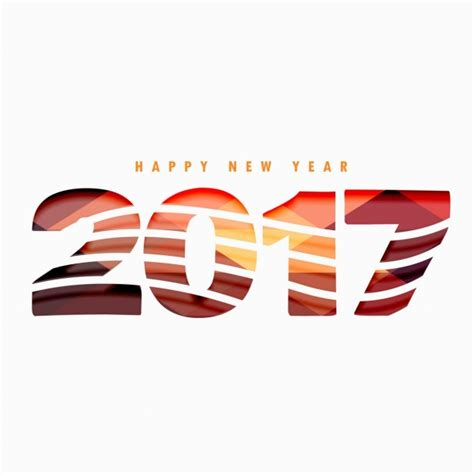 Background Of Happy New Year 2017 With Waves Vector