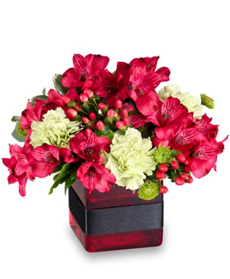 Resplendent Red Floral Arrangment In Islip Ny Elegant