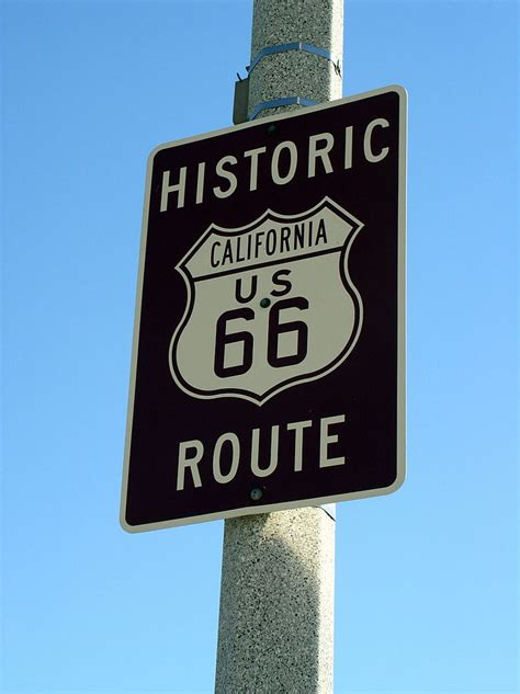 File Route66 Sign Jpg File California 66 Sign Barstow Jpg Wikimedia Commons