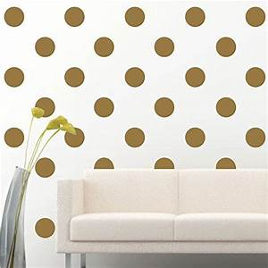 Polka circles wall decor : Amaonm? set of removable gold metallic vinyl polka dot