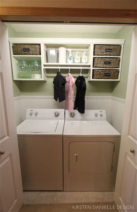 laundry closet dryers and closet on