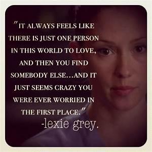 Lexie Grey Quotes. QuotesGram