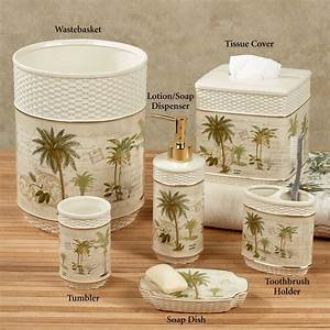 colony palm tree tropical bath accessories With palm tree decor for bathroom