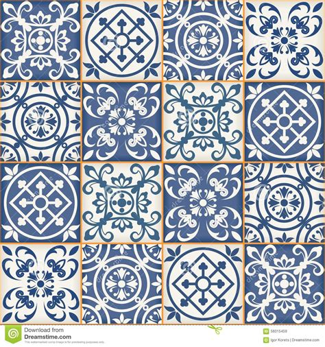 seamless patchwork pattern moroccan tiles stock vector
