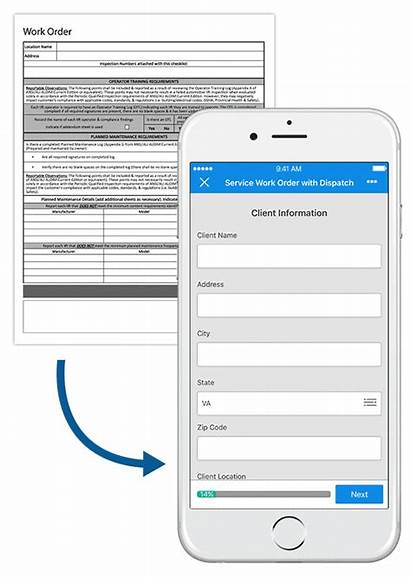 Form Mobile Gocanvas Order Paper Company Template