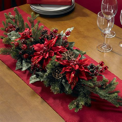 Poinsettia & Berry Centerpiece