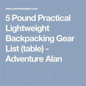5 Pound Practical Ultralight Backpacking Gear List