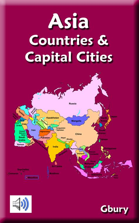 Amazoncom Asia Countries And Capital Cities Appstore