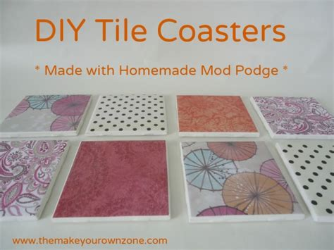 diy tile coasters a great way to use mod podge