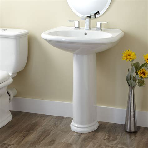 Pedestal Sink Bathroom Design Ideas by Kennard Porcelain Pedestal Sink Bathroom